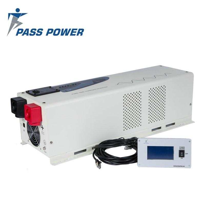 6000 W de Energia Solar inversor de onda senoidal pura Inversor DC 24 V/48 V Gerador Inversor