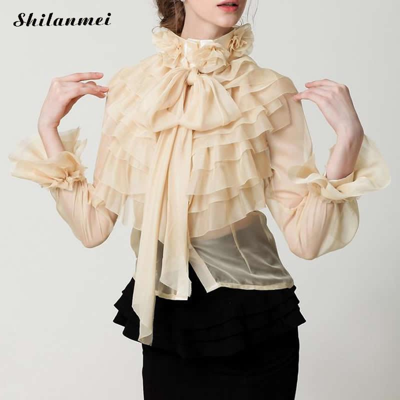 קיץ גברת חדשה נחמד עיצוב חרטום נסיכת ילדה גבירותיי חצר מלוכה בציר מתוק שיפון קפלי חולצה בתוספת גודל