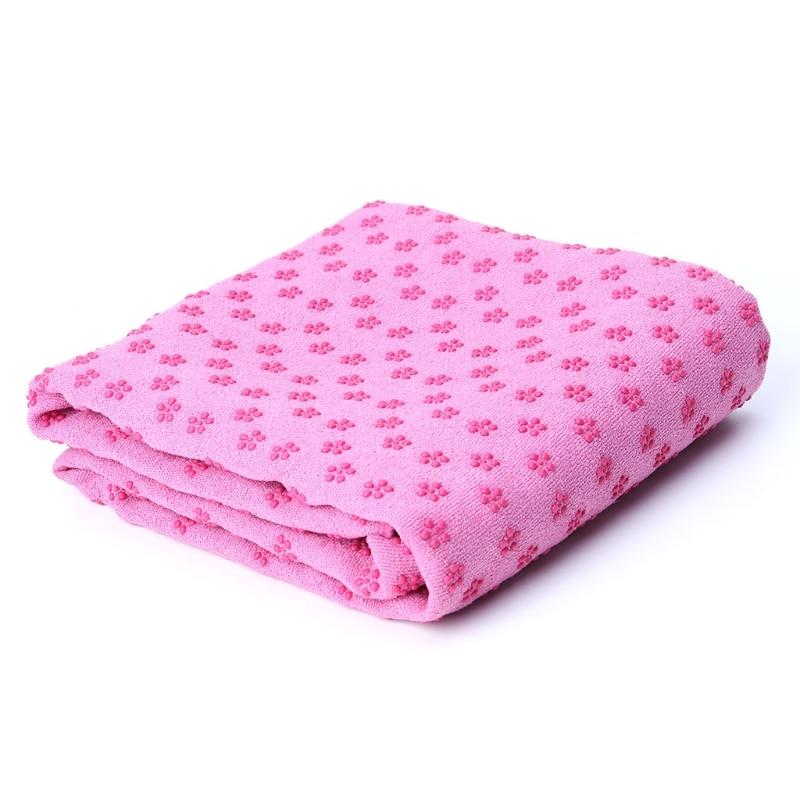 Yoga Towel Microfiber Non Slip Blanket Pilates Fitness Sport Travel Gym 183x63cm
