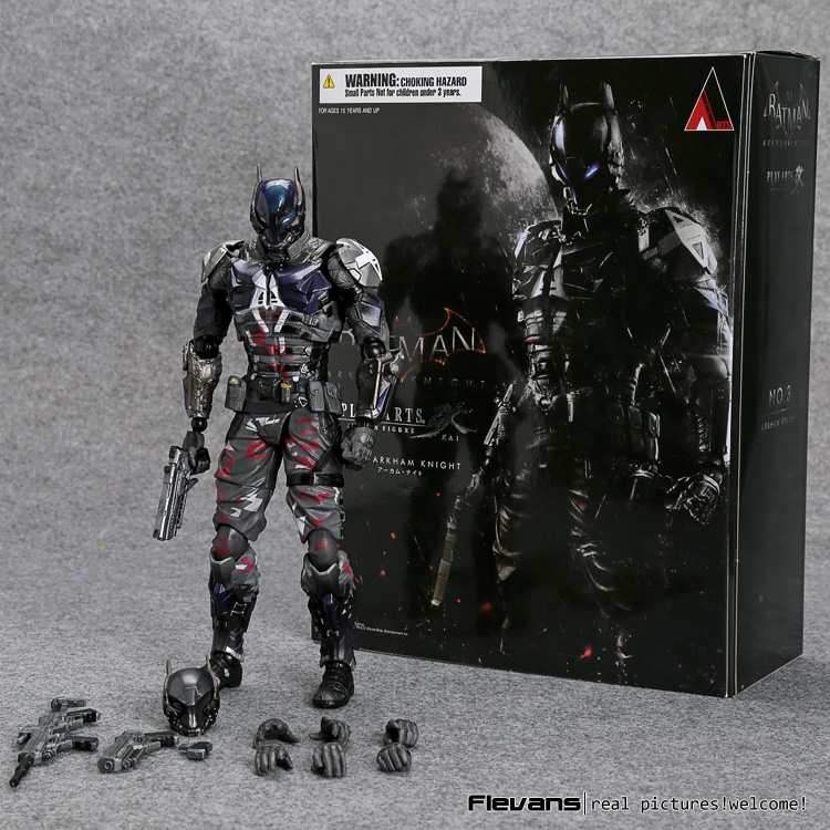 SquareEnix Playarts KAI Batman Arkham Knight PVC Action Figure Collectible Model Toy 27cm HRFG486 27cm play arts kai batman arkham knight pvc action figure collectible model toy bat man series movie figure kids diy model toys