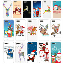 02WE Merry Christmas New Year elk snowmanSoft Silicone Tpu Cover Case for huawei Honor 7a pro 7x 7c Nova 2i 3 3i p smare(China)