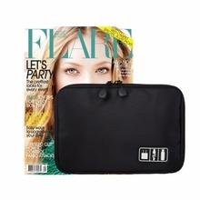 High-quality Earphone Cable Organizer Bag USB Flash Drives Case Digital Storage Pouch Travel