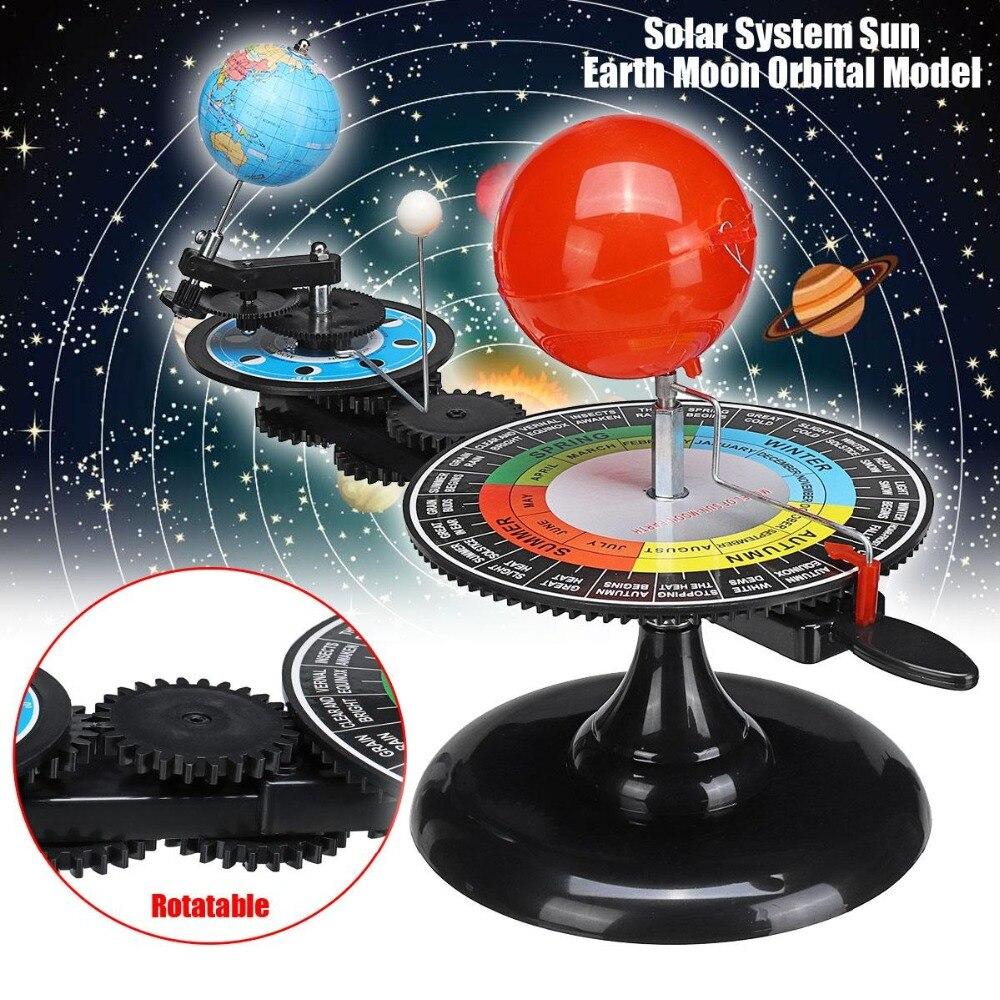 Système solaire Globes rotatif terre soleil lune planétarium Orbital modèle géographie astronomie Science éducation enseignement trousse d'outils - 2