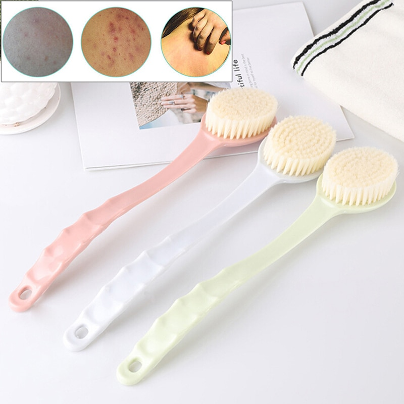Long Handle Back Bath Brush Body Spa Remove Dead Skin Body Maasage Shower Bath Brush Shower Scrubber  Easy Clean