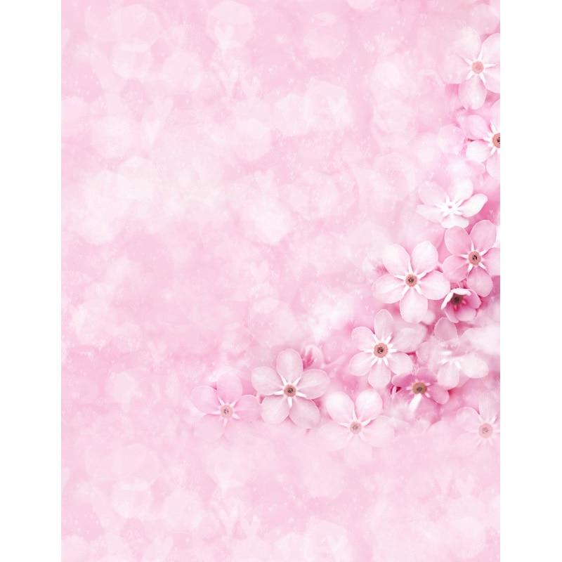 Custom vinyl cloth newborn pink floral photographic backgrounds for wedding dolls portrait photo photography backdrops S-2562 custom vinyl cloth broken wall photo