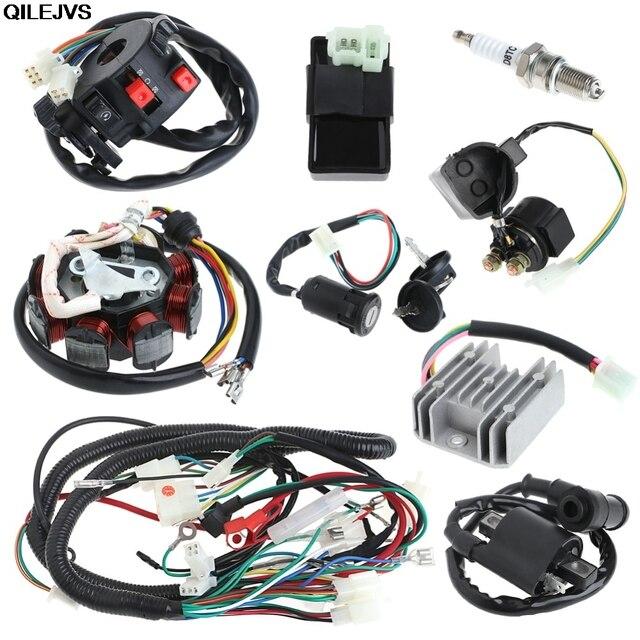 QILEJVS 150cc Electrics Stator Wire Harness Loom Magneto Coil CDI ...