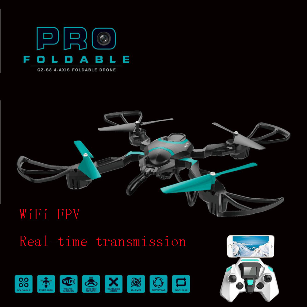 HIINST wifi FPV RC Foldable Quadcopter 2.4G 6-axis gyro 40CM attitude hold RC drone helicopter with 2MP HD wifi CAMERA vs H16