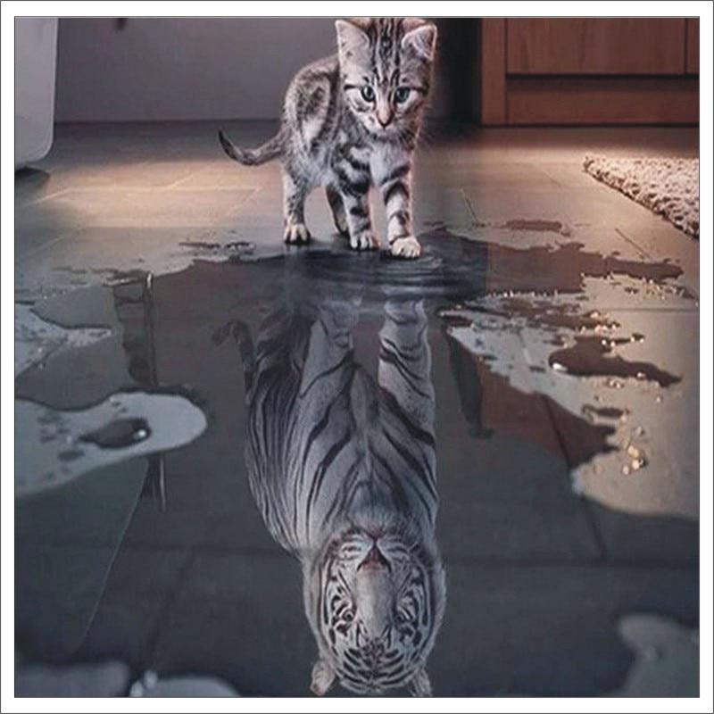 5D DiY Diamond Painting Tiger 3D Diamond Painting Square Rhinestone Diamond Painting Embroidery Animal Mural Gift T030