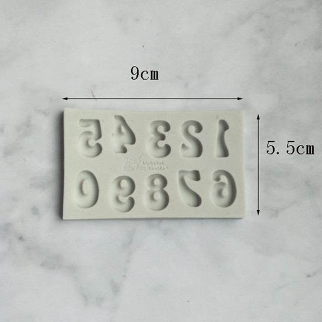 Aouke Letter Silicone Mould DIY Fondant Cake Mold Candy Chocolate Mould Baking utensils
