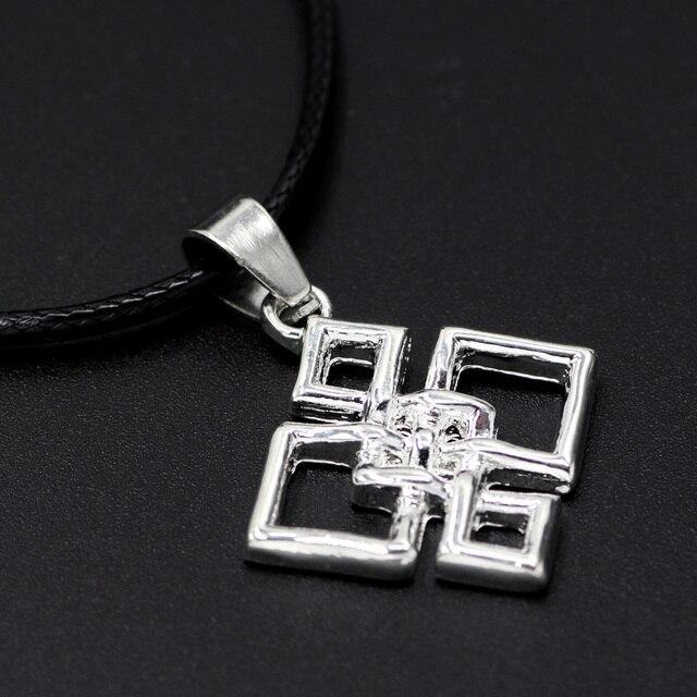 Knot Necklace Quaternary Pendant Alloy Square Irish Eternity