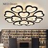 NEO Gleam Modern Led Ceiling Chandeliers For Living Room Bedroom Round White Black Home Dec Modern