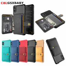 Luxury PU Leather Wallet Case for iPhone 11 6 6s 7 8 Plus XS XR XS MAX Cases Wallet Flip Cover Buckle for iPhone 7 Phone Fundas цена