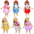 New Arrival 6 Style Pretty Colorful Cute Dress for 18 inches AG Doll Clothes Spring Flower Pattern Sharon Doll Dress