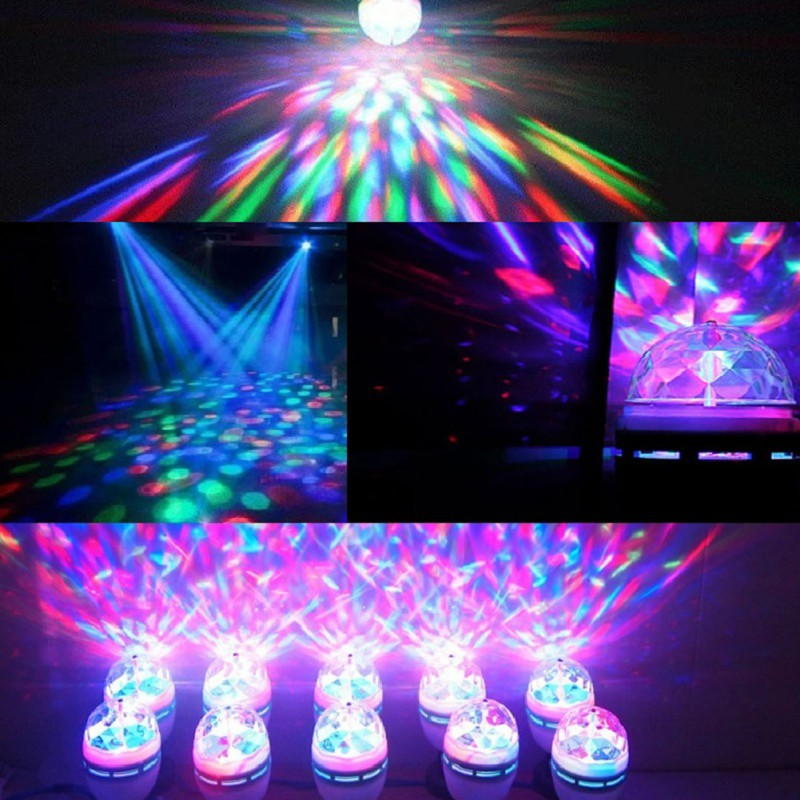 Colorful Auto Rotating RGB LED Bulb E27 3W Stage Light Party Lamp Disco for home decoration lighting lamps smart bulb e27 7w led bulb energy saving lamp color changeable smart bulb led lighting for iphone android home bedroom lighitng