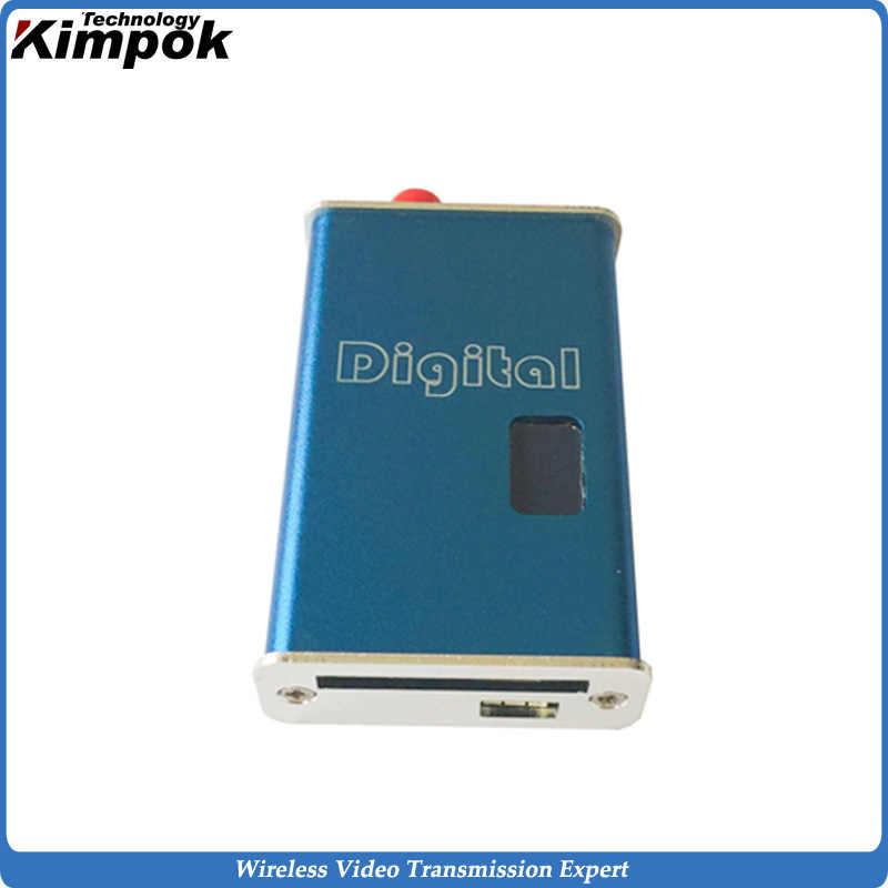 5000メガワット軽量1.2 ghzワイヤレスビデオ送信機と受信機5-8キロメートル長距離無線ブロードキャスト送信者6チャンネル