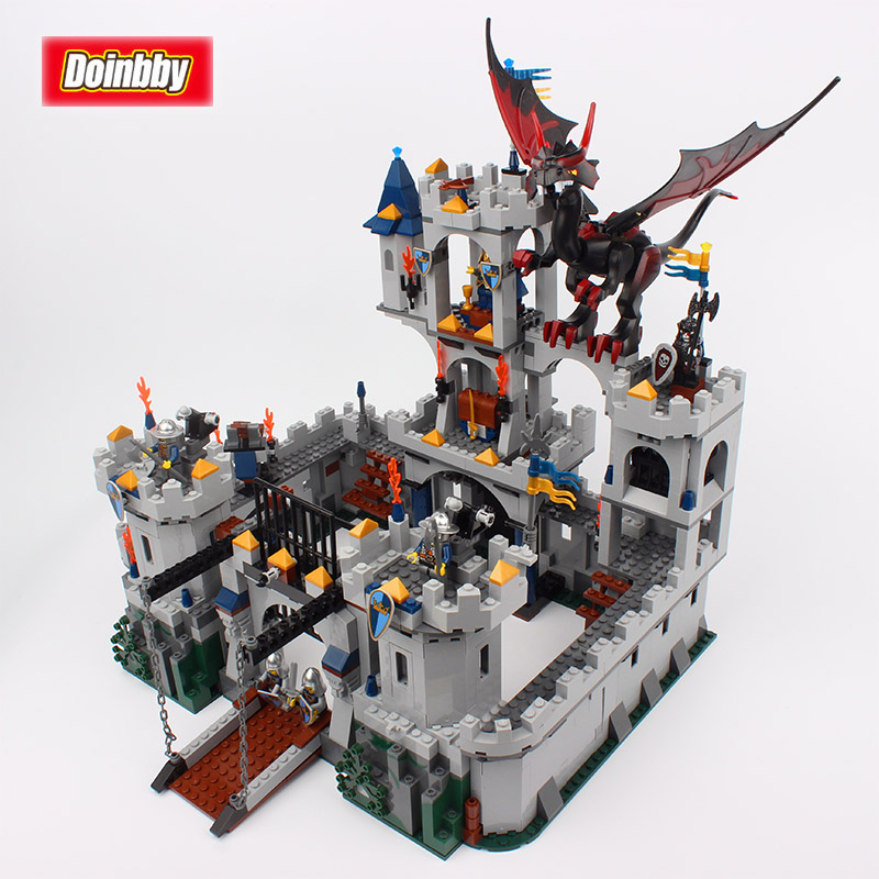 Movie Series King Castle Battle Siege Set Model Building Block Bricks Toys Compatible Legoings City Castle 7094