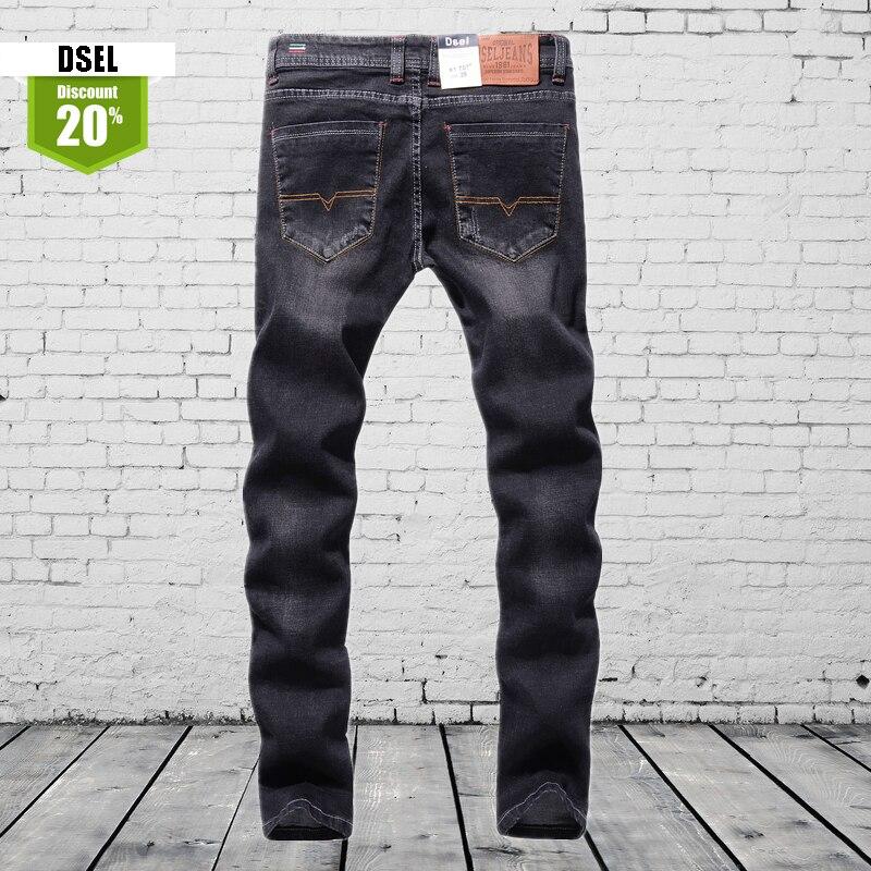 Formal Designer Black Jeans Men High Quality Stretch Slim Fit Denim Jeans Pants Brand Clothing Men