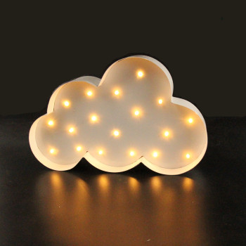 White Cloud LED Marquee Sign LIGHT UP  Vintage metal night light  wall lamps  Indoor Deration mini hashtag led marquee sign light up marquee light neon light indoor deration wall lamp free shipping
