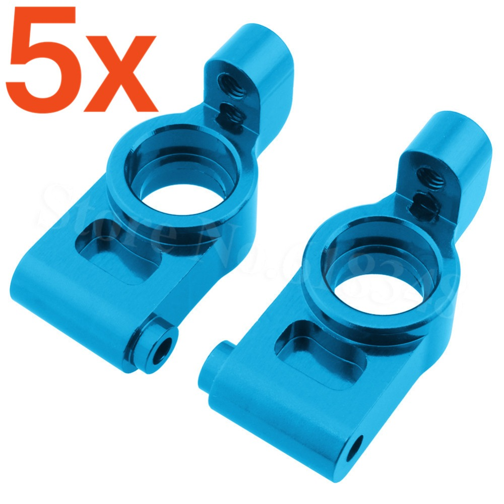 5 Pairs/Lot Aluminum Rear Hub Carrier L/R Steering Knuckle For HPI RS4 Sport 3 Hop-Up Upgrade Parts