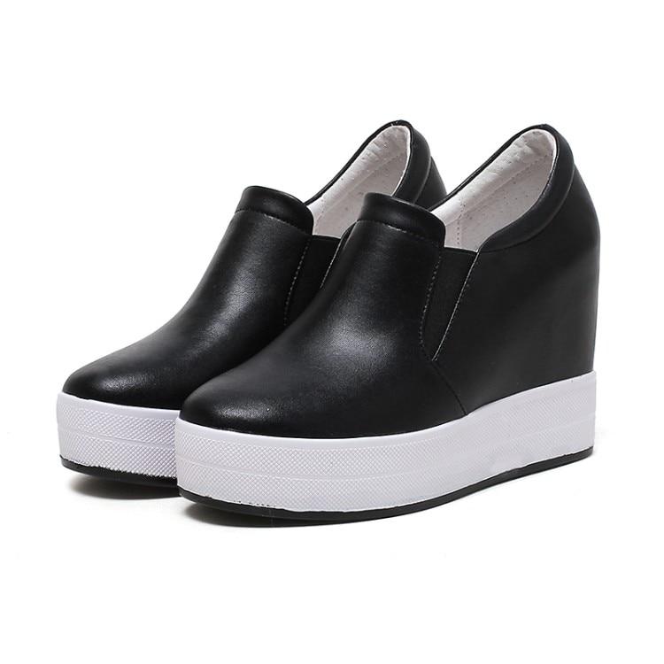 Señoras Las Nueva Mujer Zapatos De {zorssar} rojo Altura Alto Plataforma blanco Aumento Cuñas 2018 Bombas Casuales Zapatillas Negro Deporte Tacón Mujeres dPqpnvWpT