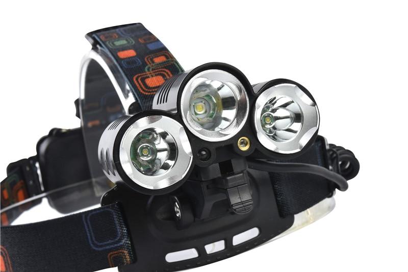 8000Lumen UV Red Laster+XM-L T6+2Q5 LED Headlamp Headlight Fishing Hunting Head Light Lamp+2*18650 Batteries+Charger+Car Charger