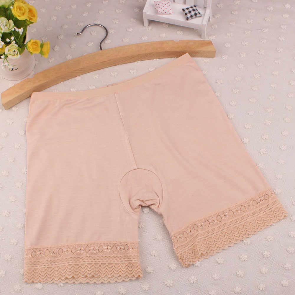 Feitong nowe seksowne kobiety krótkie spodenki ochronne elastyczne koronkowe spodnie bielizna środkowa talia bezpieczeństwa krótkie spodnie nowy/ PY