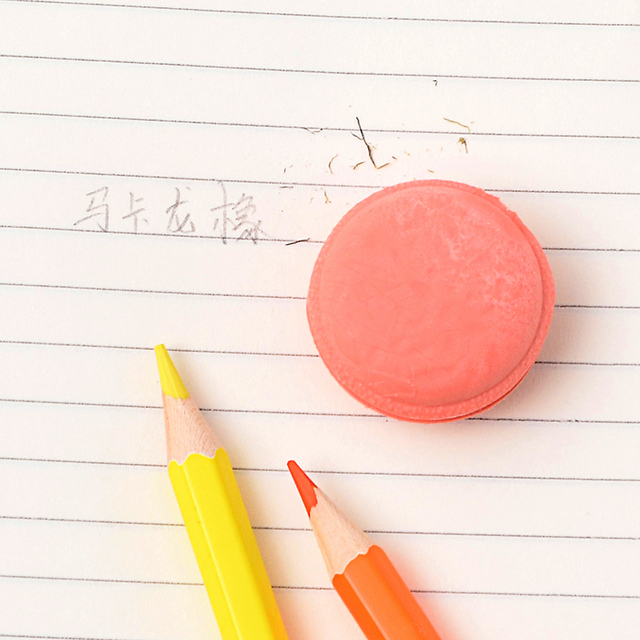 Creativo Macaron Eraser di Gomma Sveglio Kawaii di Colore Della Caramella Gomme di Cancelleria Per Ufficio Scuola Forniture Regalo per I Bambini 3