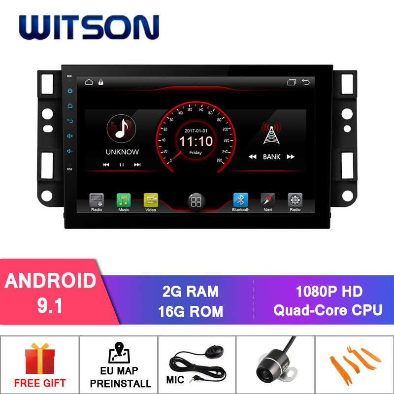 WITSON Android 9 1 car dvd GPS For CHEVROLET EPICA CAPTIVA CPU AC8227L Quad core ARM