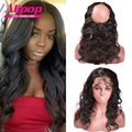 Indian Body Wave 360 Lace Frontal Closure With Strap,Pre Plucked lace Frontal 360 Lace Virgin Hair Lace Frontals With Baby Hair