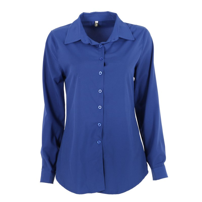 Women Beautiful World Store New Fashion Fashion Women Candy Color Blusas Long Sleeve Lapel Shirt Blusa OL Button Down Slim Fit Blouse
