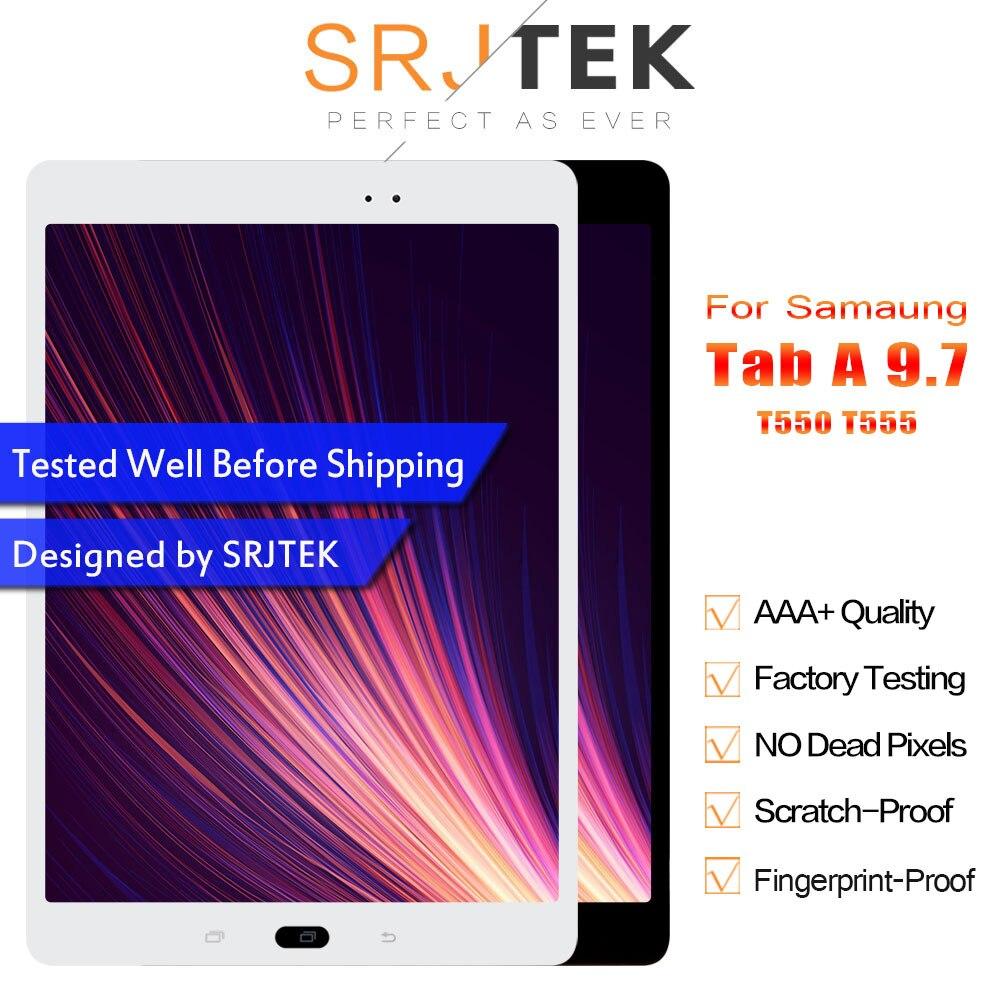 Srjtek 9.7 For Samsung Galaxy Tab A 9.7 SM-T550 SM-T555 T550 T551 T555 LCD Display Matrix Touch Screen Digitizer Full AssemblySrjtek 9.7 For Samsung Galaxy Tab A 9.7 SM-T550 SM-T555 T550 T551 T555 LCD Display Matrix Touch Screen Digitizer Full Assembly