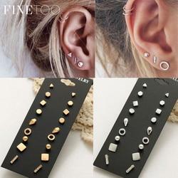 5886aedda Minimalist Mixed Small Earrings Set Simple Geometric Stud Earrings for  Women Girls Tiny Ear Studs Pendientes