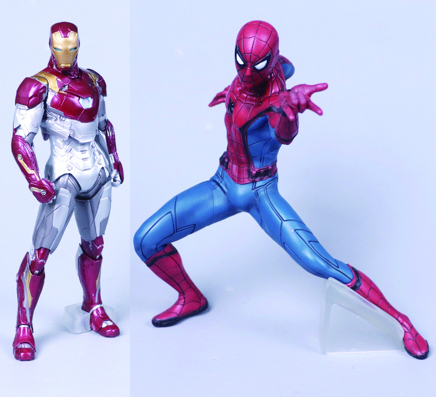 2 Styles Spider Man Homecoming Spiderman / Iron Man MK47 PVC Figure Collectible Model Toy with Retail Box Gift