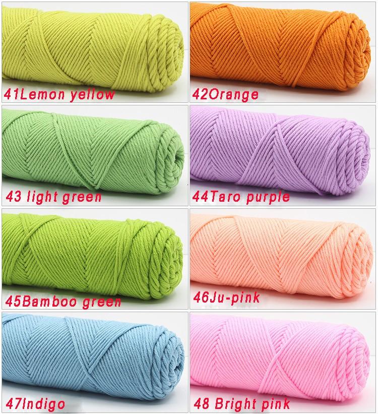 100g/pcs Natural Soft Silk Milk Cotton Yarn Thick Yarn For Knitting Lover Scarves Knitting Wool crochet yarn weave thread 12