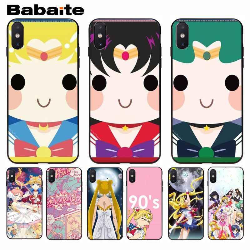 Babaite น่ารักน่ารักการ์ตูน SAILOR Moon Luxury High-end สำหรับ iPhone 5 5S 5C SE 6 6 S 7 7plus 8 8 PLUS