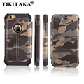 6 6s Fashion Camouflage Wallet Leather Flip Phone Cases For iPhone 5 5s SE 6 6s Plus Durable Army Armor Case W/ Card Slot Holder