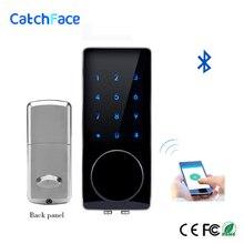 Elektronik dijital kapı kilidi çinko alaşım Bluetooth kontrol kapı kilidi Wifi güvenli sürgü kapı kilidi anahtarsız kapı akıllı kilit