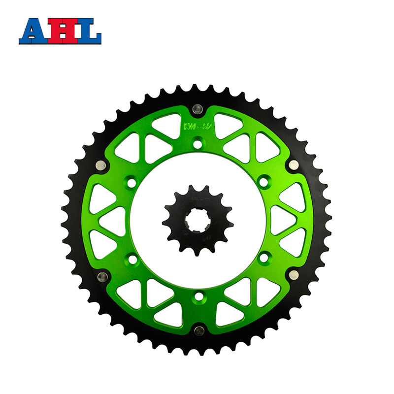 Motorcycle Parts 52-13 T Front & Rear Sprockets Kit For KAWASAKI KLX250 KLX 250 1982 1993-1995 Gear Fit 520 Chain billet rear hub carriers for losi 5ive t