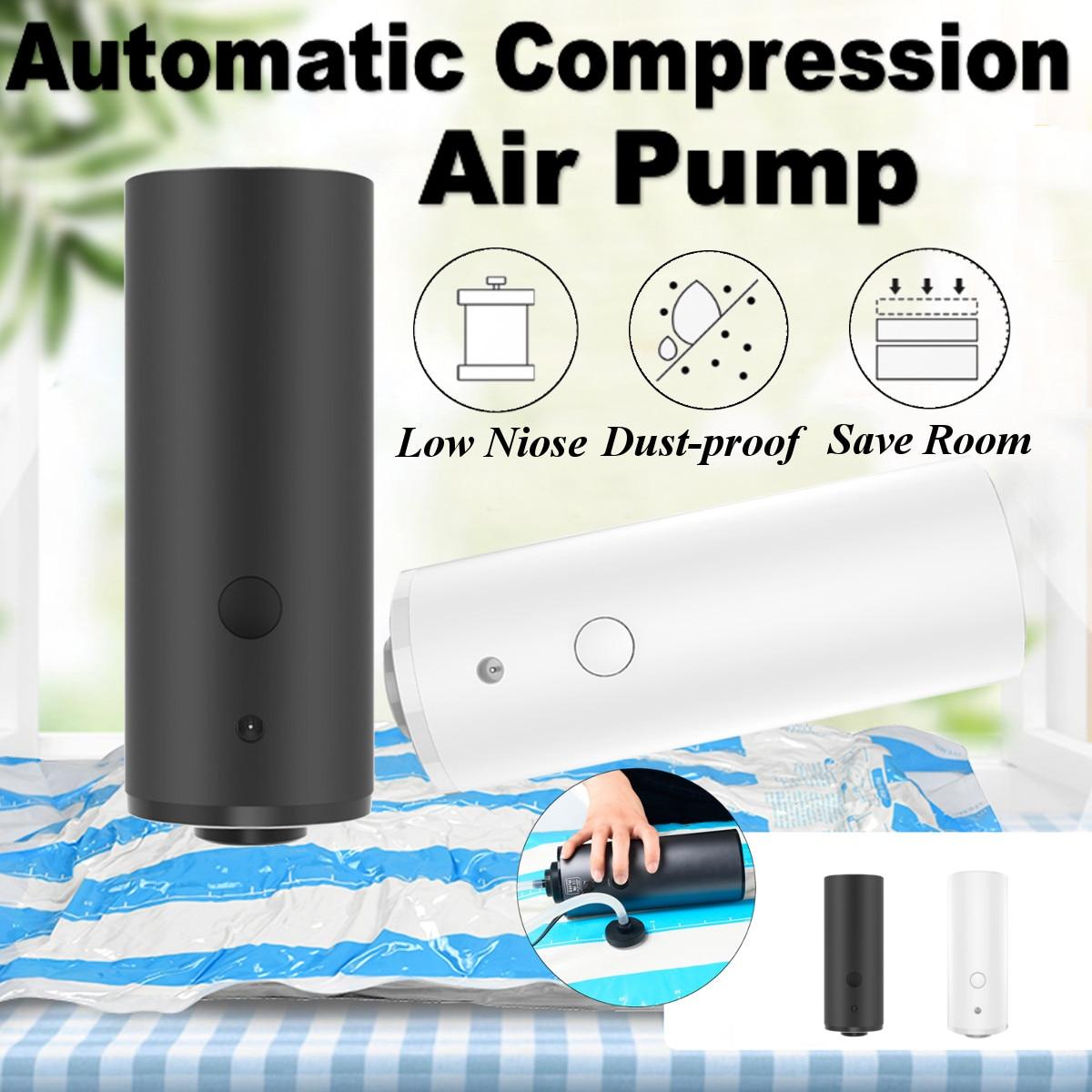 Portable Household Automatic Vacuum Sealer Pump Machine Electric Air Vacuum Pump For Clothes Quilt Food Vegetable Fruit US Plug