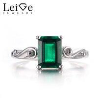 Бижутерия с изумрудом кольца обручальные кольца могут кольца с камнем рождения кольцо с зеленым камнем 925 стерлингового серебра винтажные