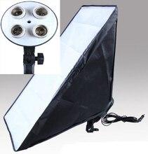 Доставка от российского 2 шт. 50*70 см фотографии рассеиватель софтбокс Отражатель материал внутри + держатель лампы может провести для 4 лампы