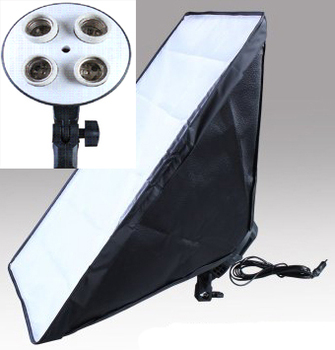 Ship from Russian 2pcs 50*70cm Photography flash diffuser softbox reflector material inside +lamp holder could hold for 4 lamps
