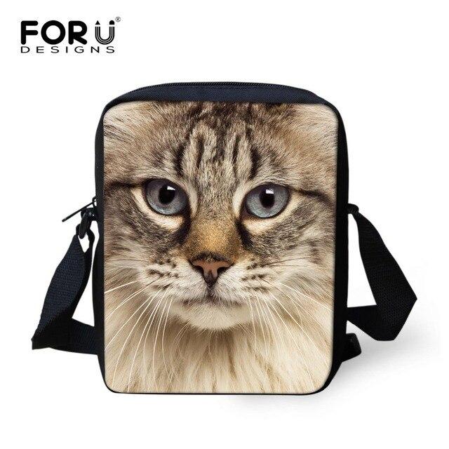 990b105a766e FORUDESIGNS Women Crossbody Bags Black Cat Printing Ladies Shoulder Bag  Girls Cross Body Bag Female Messenger Bag Small Handbag
