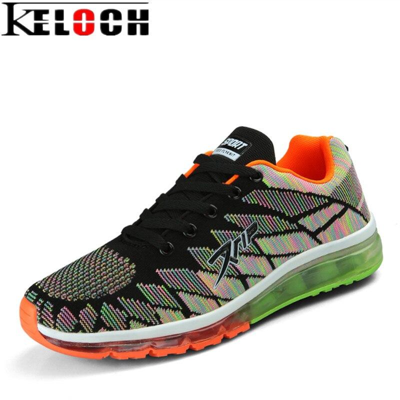 Keloch 2017 New Trend Running Shoes Men Breathable Cushion Sneakers Women krasovki Outdoor Comfortable Walking Sport Shoes 35-45