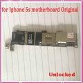 100% original, desbloqueado 16 gb para iphone 5s mainboard, para iphone 5s motherboard com batatas fritas, sem função touch id, frete grátis