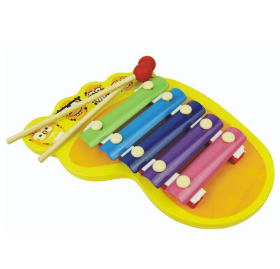 Partihandel trä knock piano leksak barn musikinstrument fötter palm hand knock piano pentameter föräldraskap pedagogiska leksaker