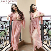 Hot sexy nightwear women transparent sexy ladies nightwear female see through nightgown home clothing KK906 H