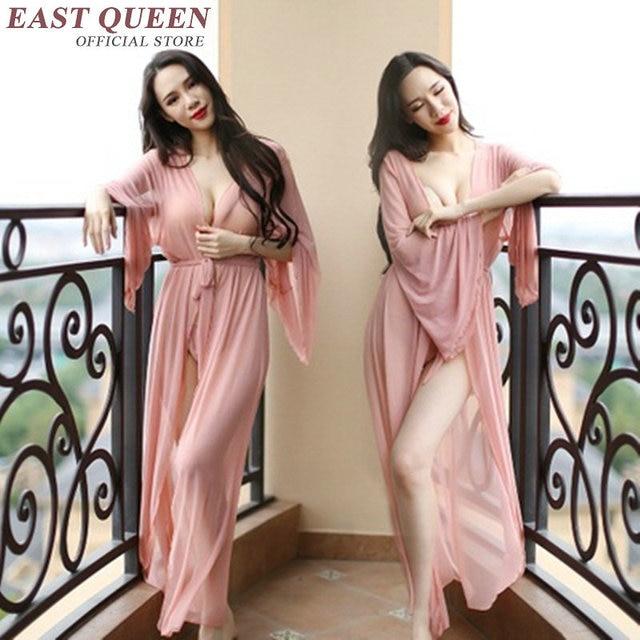 Hot sexy nightwear women transparent sexy ladies nightwear female see through nightgown home clothing KK906 H