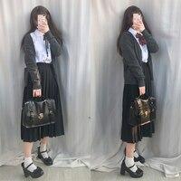 Female school uniforms set 2018 new fashion school wind suit high school female students uniform long skirt suits 4 pcs