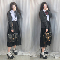 Female school uniforms set 2018 new fashion school wind suit high school female students uniform long skirt suits 4 pcs